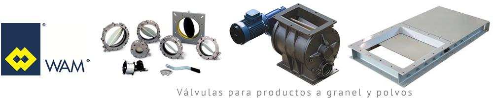 Válvula para productos a granel y polvos - Wam